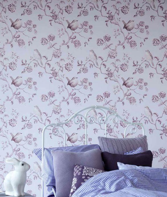 Archiv Wallpaper Cara pastel violet Room View