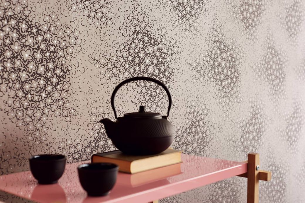Archiv Wallpaper Stopela grey brown Room View