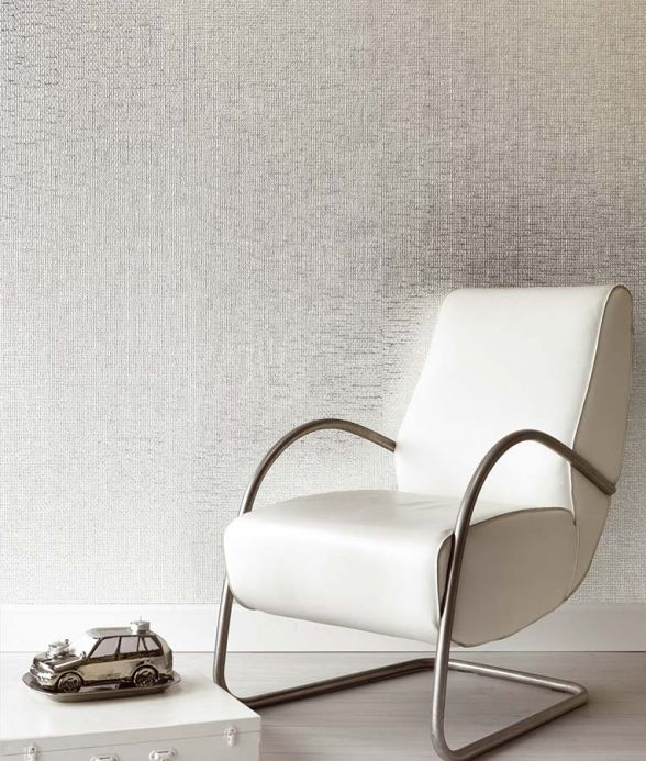 Metallic Wallpaper Wallpaper Kronos silver lustre Room View
